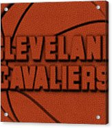 Cleveland Cavaliers Leather Art Acrylic Print