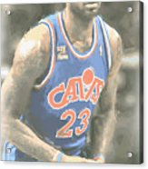 Cleveland Cavaliers Lebron James 1 Acrylic Print