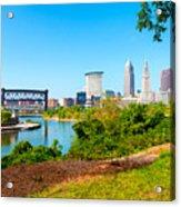 Cleveland Cityscape Acrylic Print