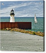 Cleveland Harbor Small Lighthouse Acrylic Print