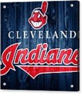 Cleveland Indians Barn Door Acrylic Print