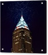 Cleveland Key Building With Electricity Acrylic Print