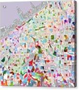 Cleveland Map 2 Acrylic Print