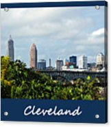 Cleveland Poster Acrylic Print