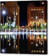Cleveland Public Square Fountains Acrylic Print