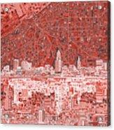 Cleveland Skyline Abstract 10 Acrylic Print