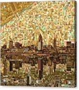 Cleveland Skyline Abstract 6 Acrylic Print