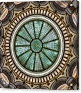 Cleveland Trust Rotunda Building Ceiling Acrylic Print