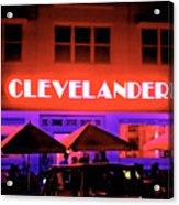 Clevelander Hotel Ocean Boulevard Miami Beach Acrylic Print
