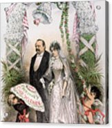 Clevelands Wedding, 1886 Acrylic Print