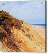Cliff At Marconi Beach Acrylic Print