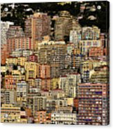 Cliff Dwellers Of Monte Carlo Acrylic Print
