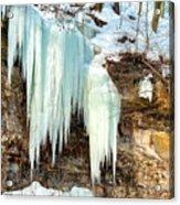 Cliff Ice Acrylic Print