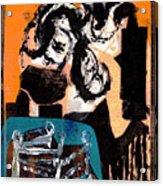 Cliff Master Bed 3 - Digital Version Acrylic Print