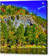 Cliff Of Color Acrylic Print