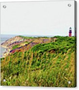 Cliff Off The Shores Of Martha Vineyard Acrylic Print