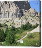 Cliff Shelf Trail In Badlands National Park South Dakota Acrylic Print