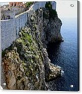 Cliff Top Walls Of Dubrovnik Acrylic Print