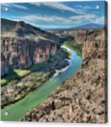 Cliff View Of Big Bend Texas National Park And Rio Grande  Acrylic Print