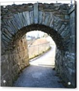 Cliff Walk Bridge Acrylic Print