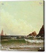 Cliffs At Cape Elizabeth Acrylic Print by Alfred Thompson Bricher