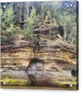 Cliffs At The Dells Acrylic Print