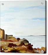 Cliffs By The Seaside Acrylic Print by Carola Ann-Margret Forsberg