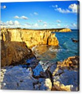 Cliffs Of Cabo Rojo At Sunset Acrylic Print