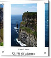 Cliffs Of Moher Ireland Triptych Acrylic Print