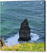 Cliff's Of Moher Needle Rock Formation In Ireland Acrylic Print