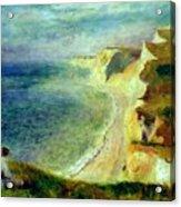 Cliffs On The Coast Near Pourville 1879 Acrylic Print
