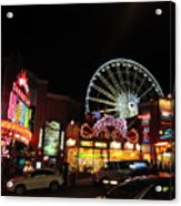 Clifton Hill At Night Acrylic Print
