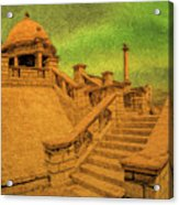 Clifton Monument At Jehangir Kothari Parade Acrylic Print