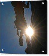 Climber Silhouette Acrylic Print