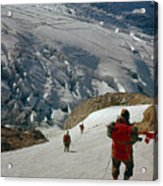 T-204805-climbing Party Mt. Rainier  Acrylic Print