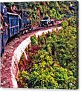 Climbing The Himalayas Acrylic Print
