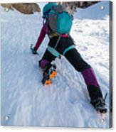 Climbing The North Coulior On Mcgown Peak Acrylic Print