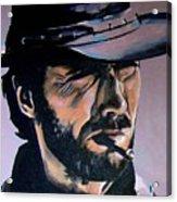 Clint Eastwood Acrylic Print