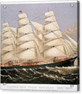 Clipper Ship, 1875 Acrylic Print