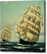 Clipper Ships Racing To Port Acrylic Print