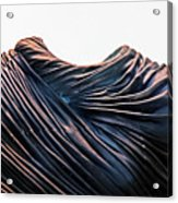 Cloaked Swirls Copper And Blues Abstract Tunic 2 8282017  Acrylic Print