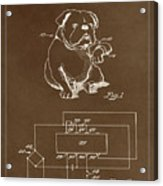 Clock For Keeping Animal Time Patent Drawing 1c Acrylic Print