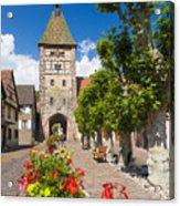 Half-timbered Houses, Alsace, France  Acrylic Print