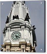 Clock Tower City Hall - Philadelphia Acrylic Print