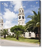 Clock Towers Of The Royal Naval Dockyard Acrylic Print