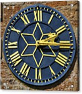 Clock With Gold Hands. Acrylic Print