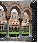 Cloister Of The Abbey Of Monreale. Acrylic Print