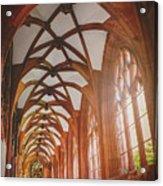 Cloisters Of Basel Munster Switzerland  Acrylic Print