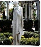Cloisters Statue Acrylic Print by Heidi Hermes