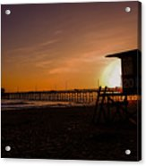 Close Of The Day At Newport Beach Acrylic Print